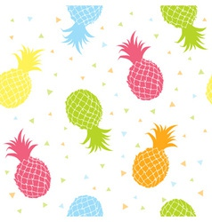 Fresh pineapples colorful seamless texture pattern vector