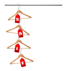 Coat hangers on a clothes rail discount promotion vector