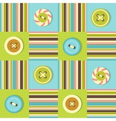 Background with sewing buttons vector