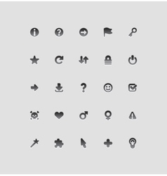 Interface icons for signs vector