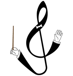 Abstract treble clef as conductor vector