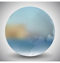 Dotted world globe blurred design vector
