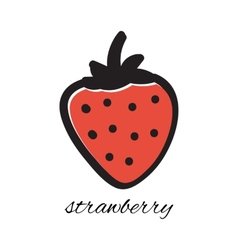 Hand drawn strawberry in doodle style vector