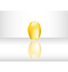 Isolated golden egg vector