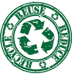 Reuse reduce recycle stamp vector