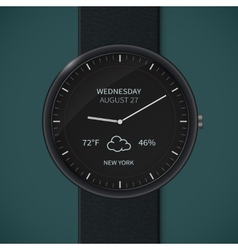 Smartwatch mockup - weather vector