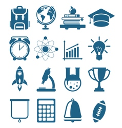 High school and college education vector