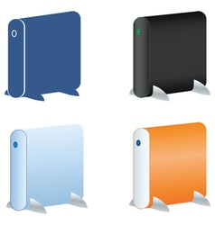 External hdd icons set vector