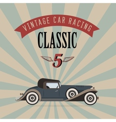 Vintage classic car vector
