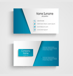 Modern light blue business card template vector