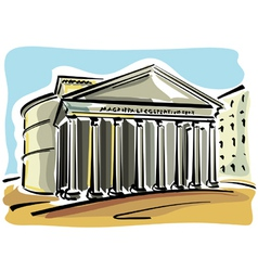 Rome pantheon vector
