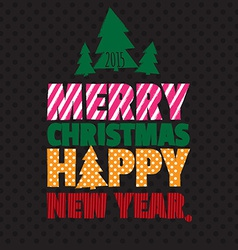 Greeting card happy new year merry christmas vector