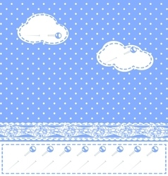 Abstract sewn clouds vector