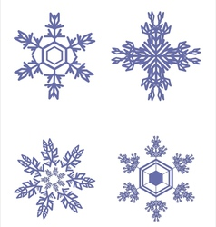 Icons of beautiful snowflakes vector