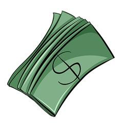Set of money bills vector