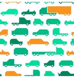 Flat with simple little cars seamless vector