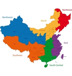 Colorful china map vector