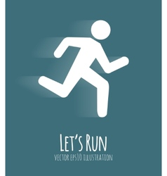 Let s run poster vector