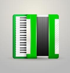 Green accordion vector