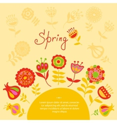 Card with spring flowers vector