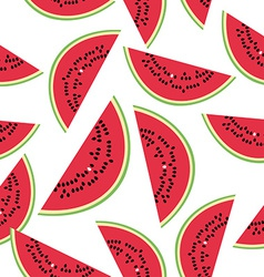 Seamless pattern with watermelon on the white vector