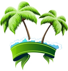 Tropical resort concept vector