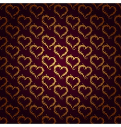Ornaments background red heart vector