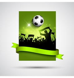 Silhouette of a crowd on a football soccer vector