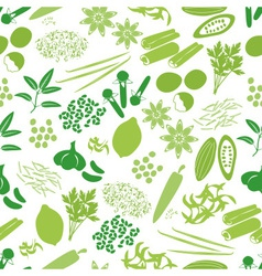 Spices and seasonings icons color seamless pattern vector