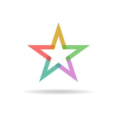 Colorful star abstract business logo design vector