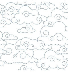 Seamless stylized clouds pattern vector