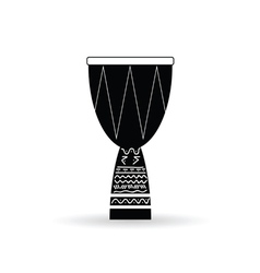 Bongo black and white vector