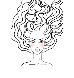 Beauty girl face vector