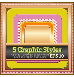 Set of funny warm yellow graphic styles for design vector