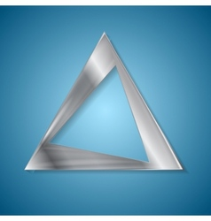 Abstract silver triangle logo design vector