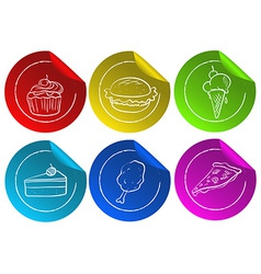 Fastfood stickers vector