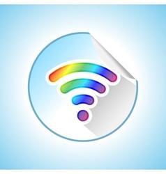 Wi-fi sticker vector