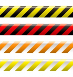 Warning tape vector