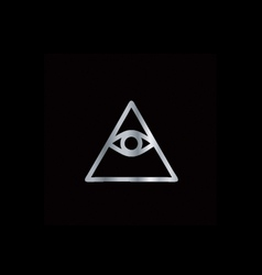 Cao dai eye of providence- religious icon vector