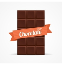Dark chocolate bar open vector