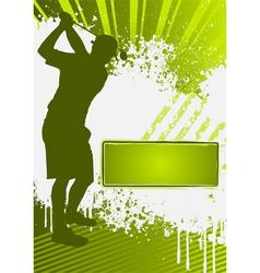 Golf grunge poster template vector