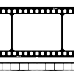 Blank 35mm film strip vector