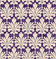 Seamless violet damask pattern vector