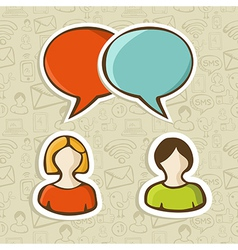 Social media chat icons set vector