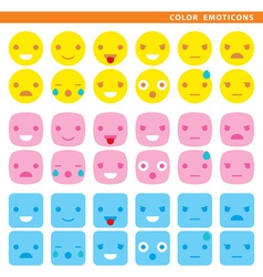 Color emoticons vector
