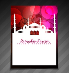 Islamic festival template vector