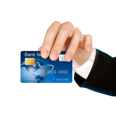 Credit card with chip vector