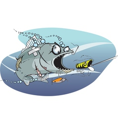 Bad azz fish 1 vector