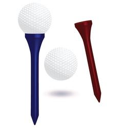Golf ball and tee vector