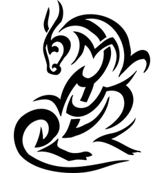 Animal in tribal style - vector